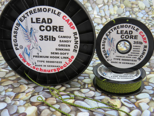Leadcore 35lb  / 15,9 kg 25m Camouflage Green