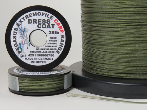 Dress Coat Leadcore  20 Meter 35 lb weed green